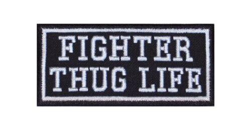 Fighter Thug Life Biker Patches Écusson Rocker Bügelbild Blouson Motorcycle Heavy