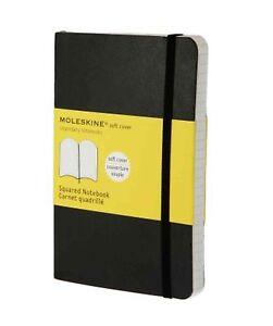 Moleskine-9X14-cm-Softcover-Notizbuch-192-Seiten-schwarz-kariert