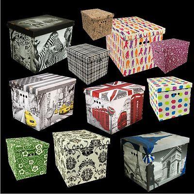 Aufbewahrungsbox Box Karton Kiste XL DESIGN NEU BILLIG VIELE FARBEN