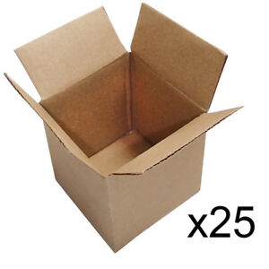 25 pack small cardboard shipping 4x4x4 packing box gift moving