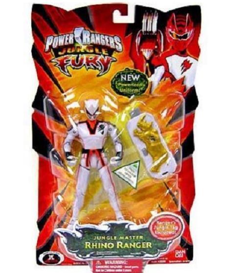 Power Rangers Jungle Fury blanc Master Rhino Ranger NEW FACTORY SEALED 2008