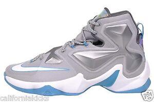 4640ed279f29a NIKE Lebron XIII sz 11 Blue Lagoon Edition Wolf Grey White Hologram ...