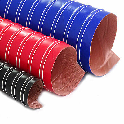 60mm Orange 3 Metres Silicone Ducting Flexible Hose Hot Or Cold Car Air Pipe