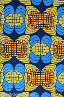 New African Cotton Print Fabric Ankara For Dresses & Craft Making  Per 6 Yards