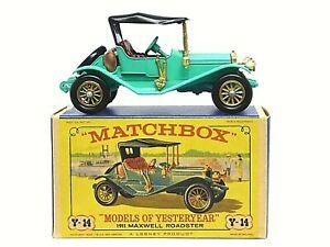 Matchbox-antano-Y14-2-1911-Maxwell-Roadster-en-tipo-039-D3-039-Nuevo-Modelo-039-Caja
