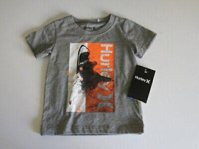 Hurley Baby Boys 12M or 24M Long Sleeve Graphic Shark T Shirt Tee Shirt Top NWT