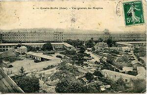 CARTE-POSTALE-KREMLIN-BICETRE-VUE-GENERALE-DES-HOSPICES