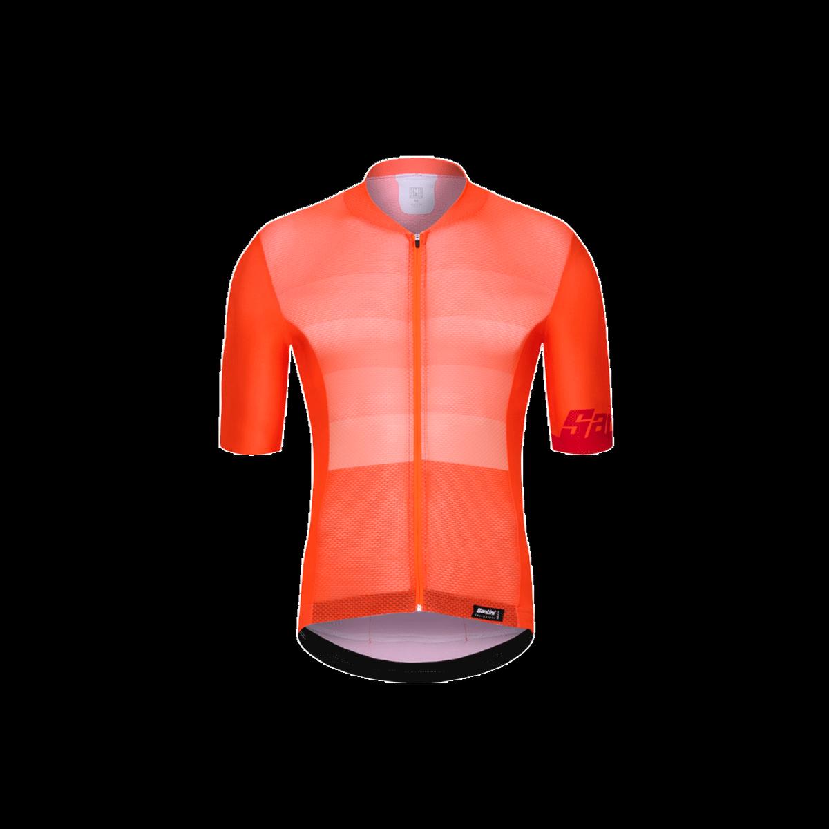 Santini Tono Short Sleeve Cycling Jersey - Fluo Orange
