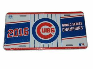 CHICAGO CUBS 2016 WORLD SERIES CHAMPIONS LICENSE PLATE metal truck car tag G98