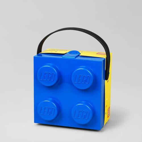 LEGO storage Brick cartables avec poignée bleu/square lunch box with Handle Blue
