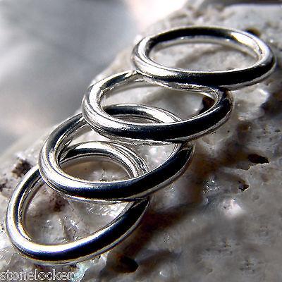 Verantwortlich 4 Stck. Ring 8mm Silber 925 Binderinge F. Kette U. Armband Silver Ring 8mm Öse