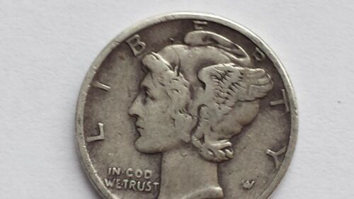 Visible date Lot of 1 circulated 90/% Silver Mercury Dimes Mercury Dime