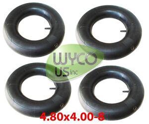 FOUR INNER TUBES, 4.80/4.00-8, 4.00-8, STRAIGHT VALVE STEM, 4.80x4.00-8 (4 PCS)