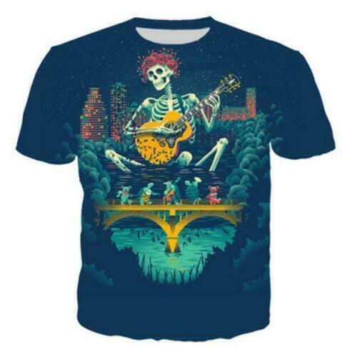 Men//Women/'s grateful dead blues for allah 3D Print Casual T-Shirt Short Sleeve