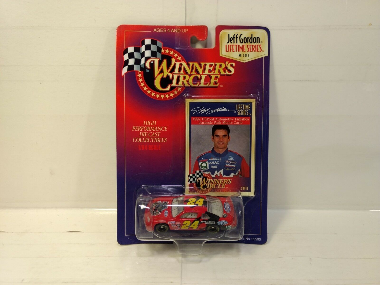 Winner's Circle Jeff Gordon Parque Jurásico Chevy 1 64 Escala de Metal mb448