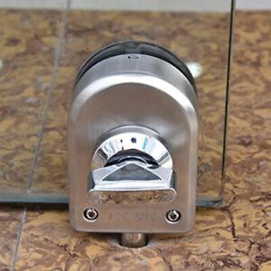 Edelstahl 10 12mm Glasschaukel Push Türschloss Keyless Thumb Turning
