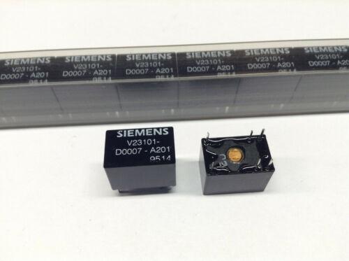 125 Vac monostabil M3852 1 pcs Siemens V23101-D0007-A201 Signal Relay 24 VDC