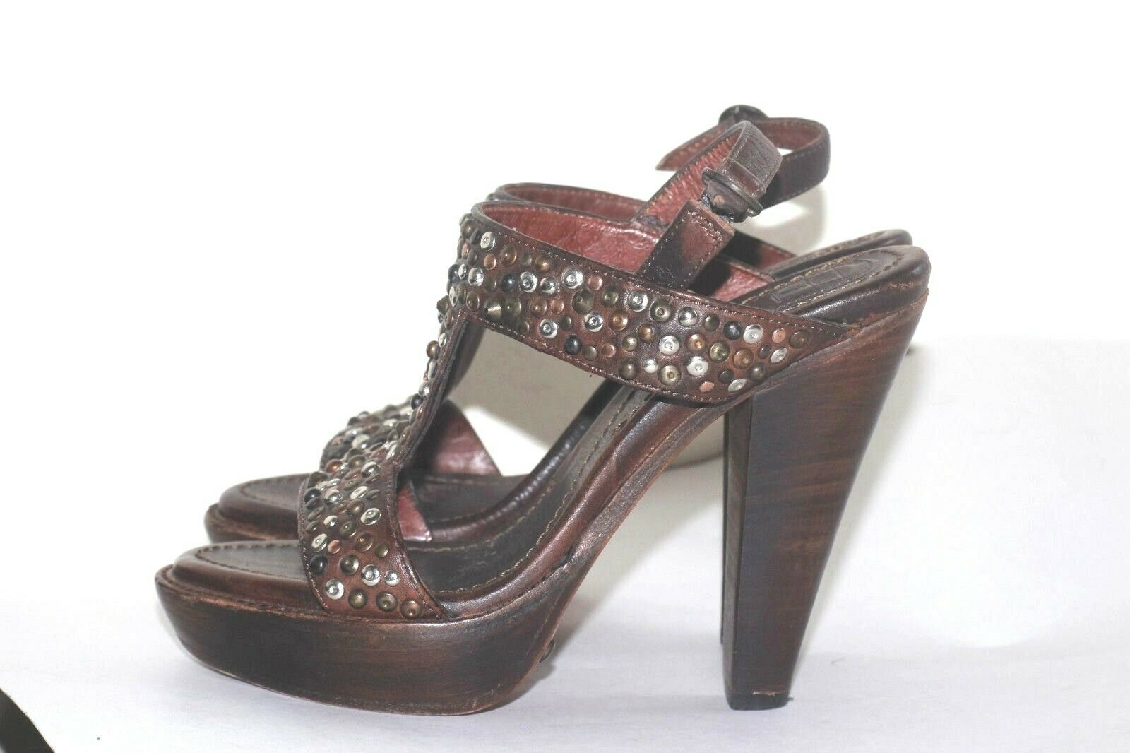 FRYE donna Studded  Marronee Leather Leather Leather Sandals Sz 6B 48a41b