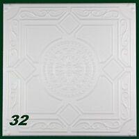 40 M2 Styroporplatten Styropor Dekor Stuck Deckenplatten 50x50cm, Nr.32