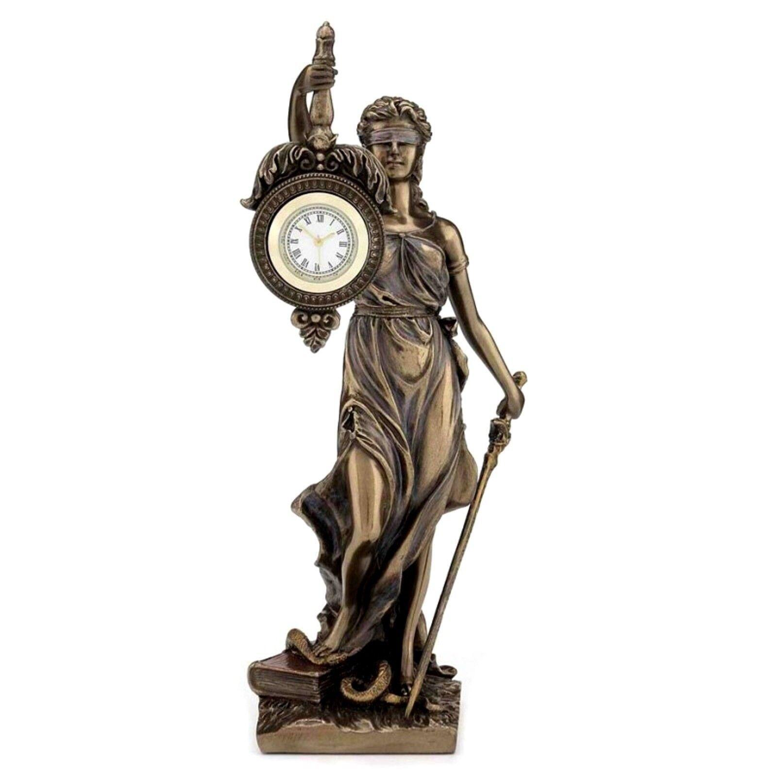 30197   FIGURINE STATUETTE   STATUE LA JUSTICE PENDULE  STYLE    BRONZE  10%