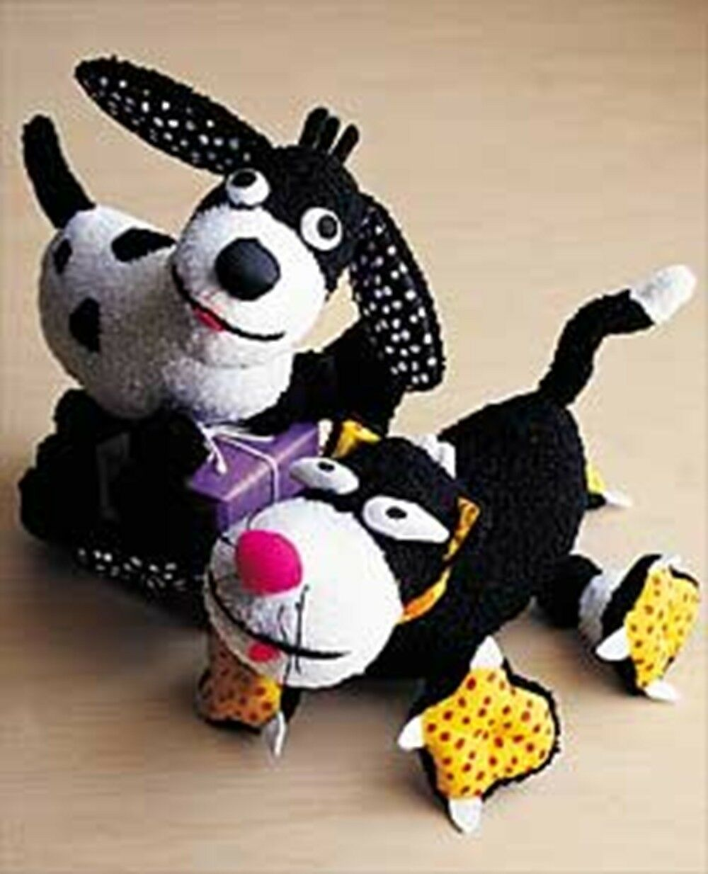 New NWT Rare Hoopla by Andre Pupito the dog and Feleeni the cat Stuffed Toys
