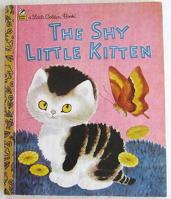 The SHY LITTLE KITTEN Little Golden Book Gustaf Tenggren 1995