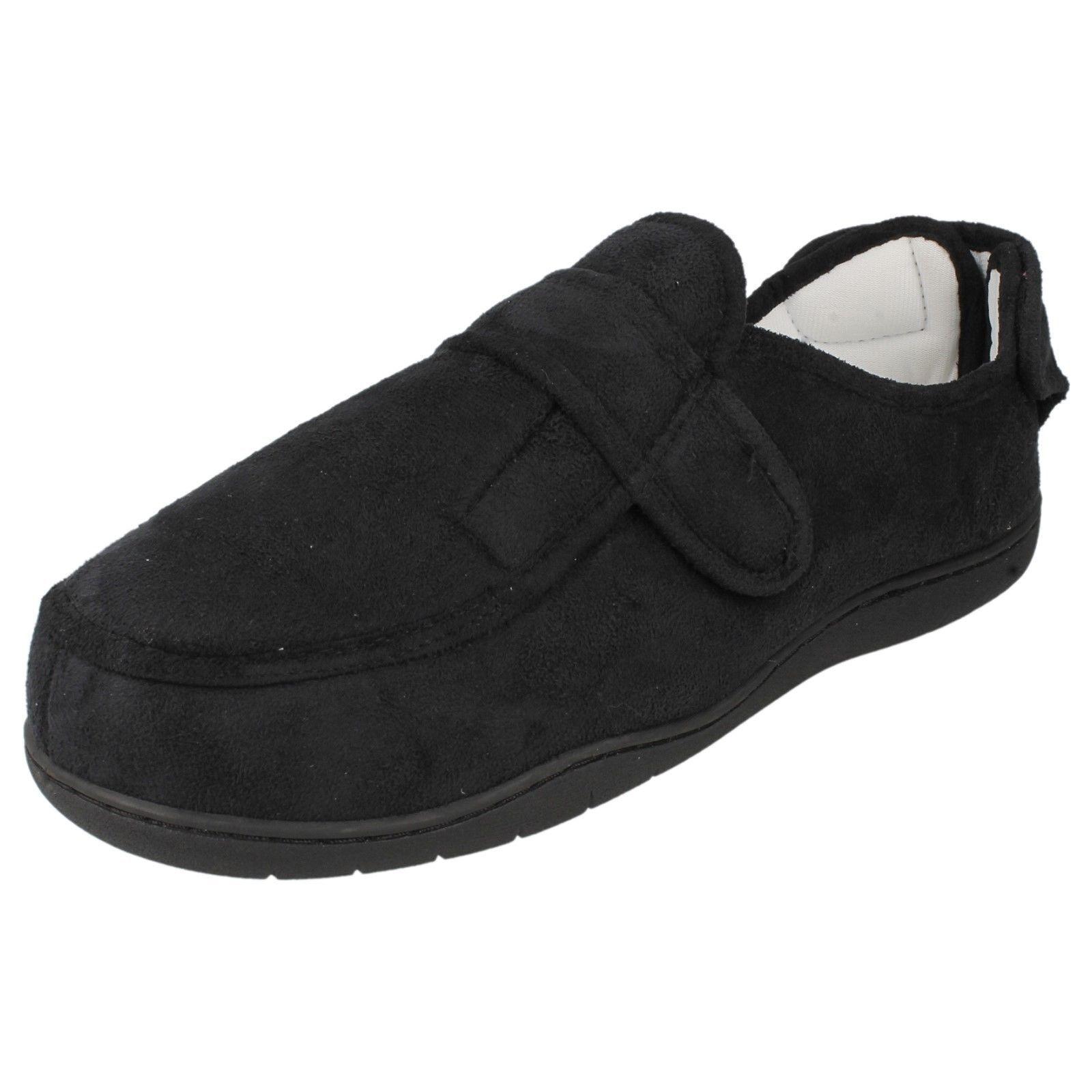 UNISEX NERO E FOAM Multicolore chiusura a strappo MEMORY FOAM E pantofole scarpe d47012