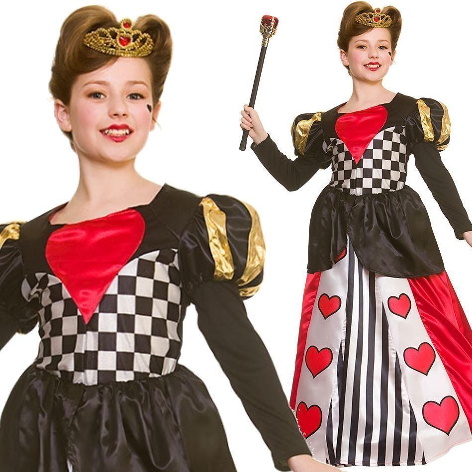 Brillant Kids Deluxe Queen Of Hearts Costume Alice Déguisement Semaine Du Livre Storybook Nouveau Retarder La SéNilité