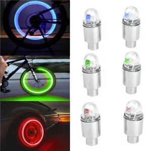 2 LED Lamp Flash Tyre Wheel Valve Cap Light For Car Bike Bicycle Motorcycle  O
