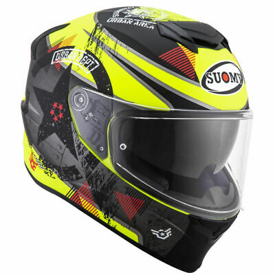 Casco integrale moto Suomy Stellar Shade helmet casque white grey pinlock