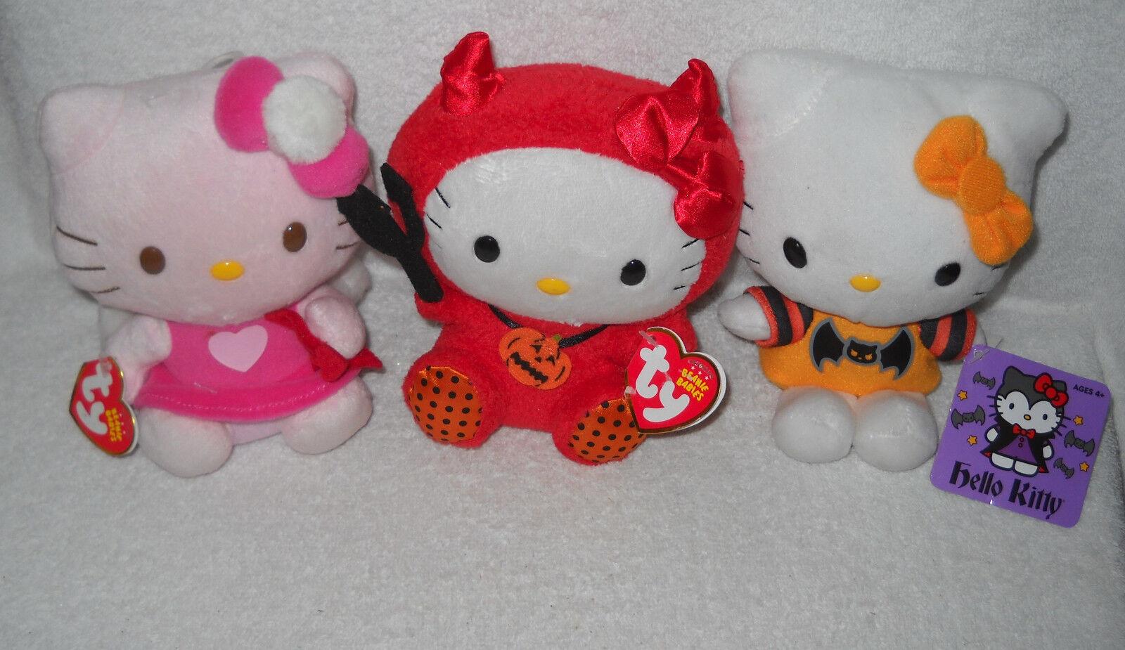 7304 28 gemeinden 2 ty & 1 jakks pazifik valentine & halloween hello kitty plüsch