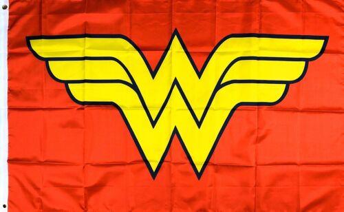 Wonder Woman Logo Flag 3x5 ft Red Banner Justice League DC Comics Super Hero New