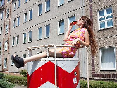 Bello Donna Costumi Miniabito Abito Estivo Effetto 60s Truevintage Summer Mini Dress Silky-mostra Il Titolo Originale Così Efficacemente Come Una Fata