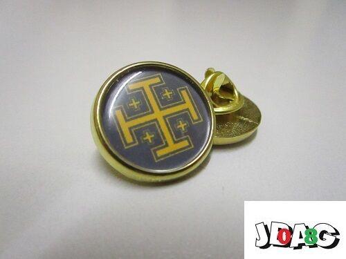 TERRE SAINTE PINS PIN'S BADGE CROIX DE JERUSALEM FINITION OR OU ARGENT