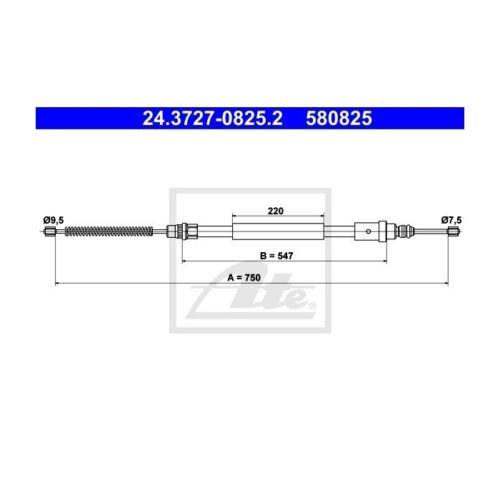 frein de stationnement pour PEUGEOT 406 BREAK 406 UAT 24.3727-0825.2 commande à câble