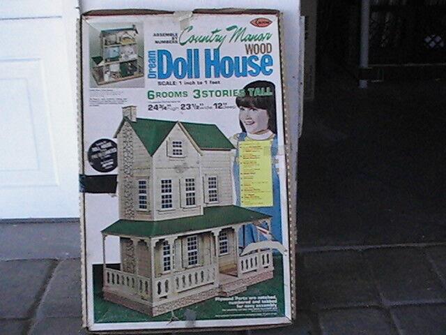 Country Manor madera sueño Dollhouse Kit 703 sin usar 1  escala -1' Nuevo