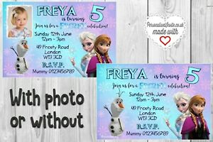 Details About Princess Anna Elsa Frozen Birthday Invitations 10 Invites Envelopes Xxxxxx