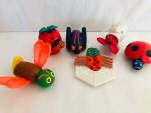Eric-Carle-Finger-Puppets-McDonalds-Toy-Set-of-6-COMPLETE-Vintage-1990s-Toys