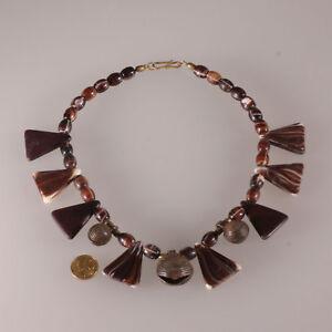 7346-Old-Trade-beads-glass-Bohemian-Wedding-Akan-bronze-bell