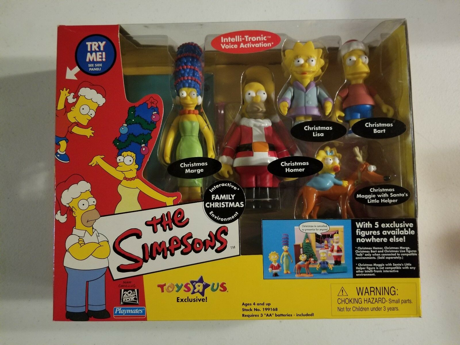 Playmates Toys Family Christmas - Marge, Homer, Lisa, Bart, Maggie Action Figure