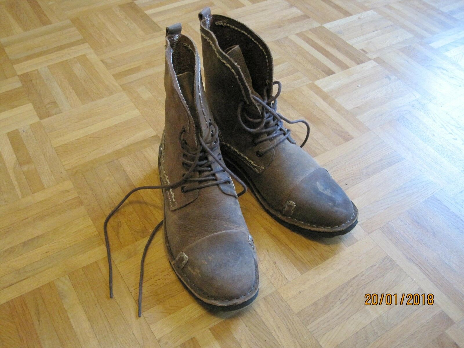 Rock Rebel by EMP Corded Leather Boot Boots braun EU41