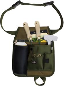 Gardeners Tool Belt Apron Green Handy Pockets Adjustable Belt Cuttings Carrier