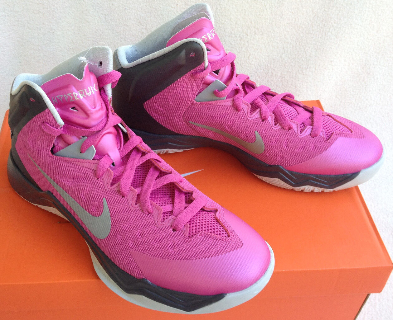 Nike Basketball Zoom Hyperquickness TB 603514-600 Basketball Nike Shoes Pink Women's 10.5 new 619137