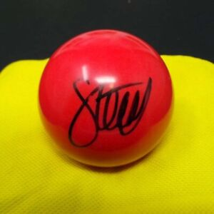 Stephen HENDRY Signed Autograph Snooker Ball 3/4 Size Red Colour AFTAL RD COA