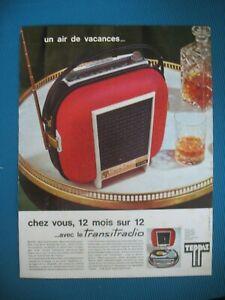 PUBLICITE-DE-PRESSE-TEPPAZ-TRANSITRADIO-ELECTROPHONE-RADIO-AIR-DE-VACANCES-1963