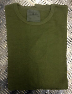 Genuine-British-Army-Olive-Cold-Weather-Thermal-Long-Sleeve-Top-All-Sizes