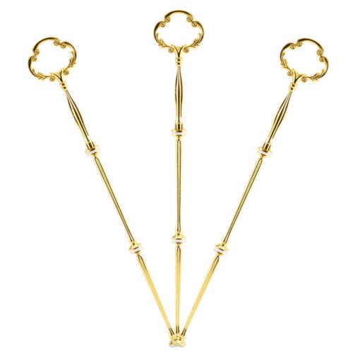 3 x Golden Metallstange für 3er Etagere Torten Hochzeitstorte Tortenständer