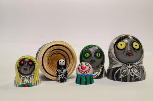 Madness Russian Matryoshka Babushka Wooden nesting dolls Crazy handmade
