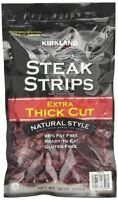 Kirkland Steak Jerky Strips Extra Thick Cut 12 Oz Natural Style, Fast Ship