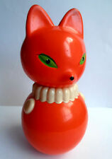 1960s Vintage USSR Russian Soviet CELLULOID SOUND Toy Roly-Poly FOKS